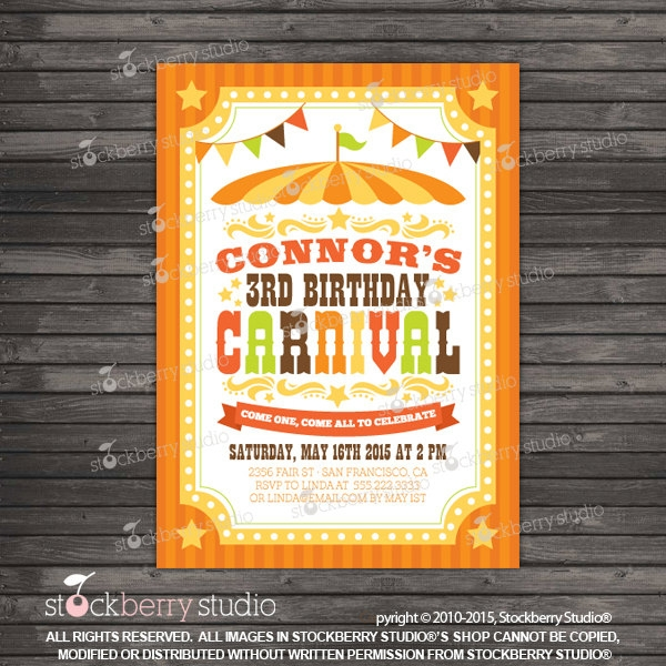 Carnival Festival Invitation Flyer