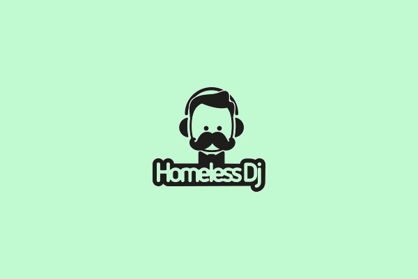 Cartoon DjHomeless Logo