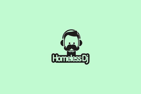 Cartoon DjHomeless Logo