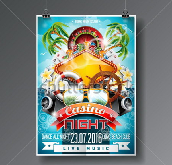 Casino Theme Landscape Flyer