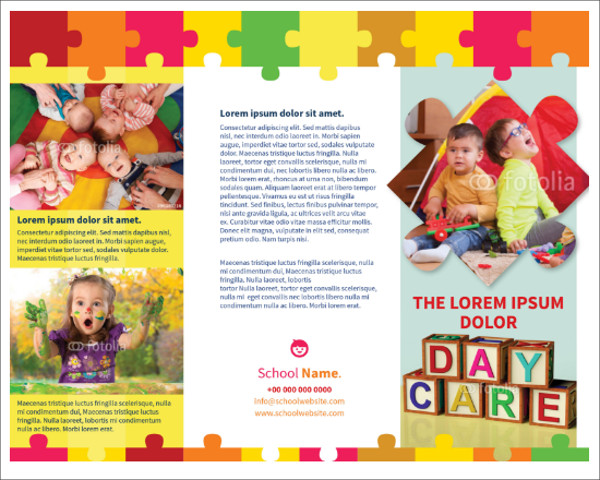 Child Day-Care Brochure Template