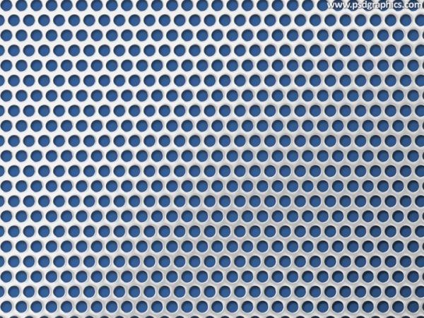Circular Steel Grid Texture