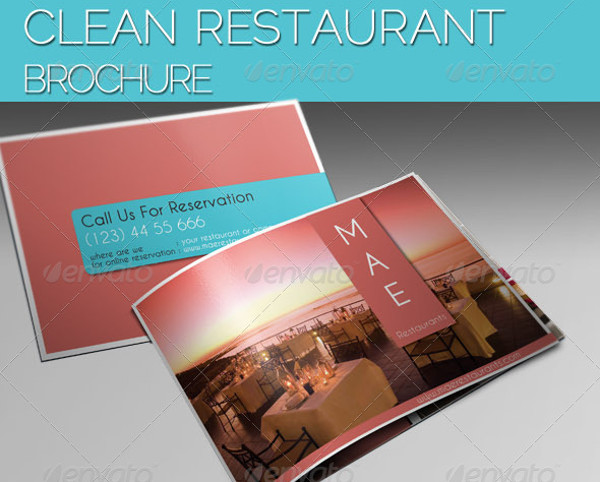 Clean Restaurant Brochure Design