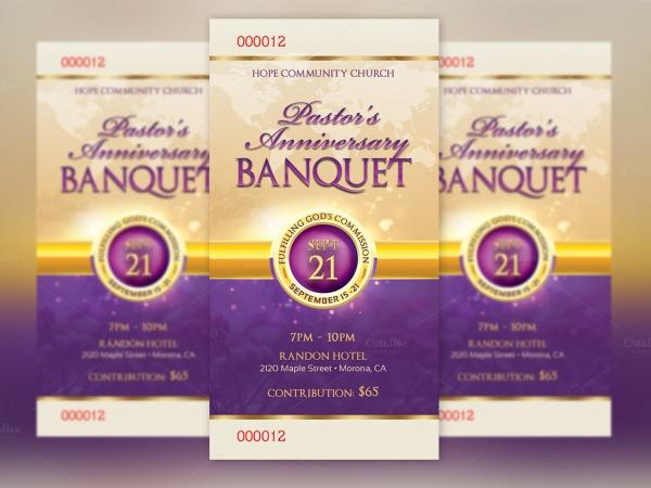 Clergy Anniversary Banquet Ticket
