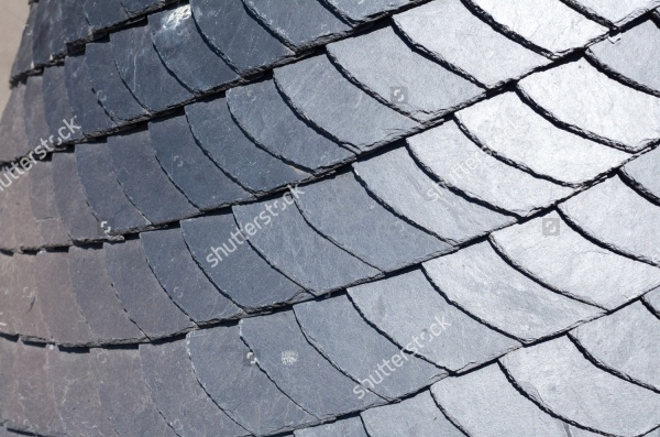 Close up of slate roof Texture