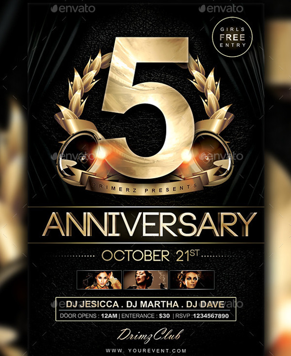 Club Anniversary Flyer Design