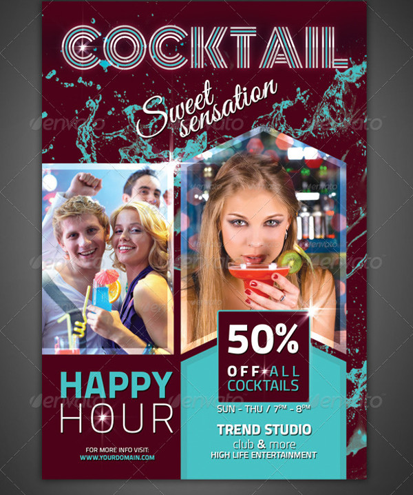 Cocktail Bar Flyer Design