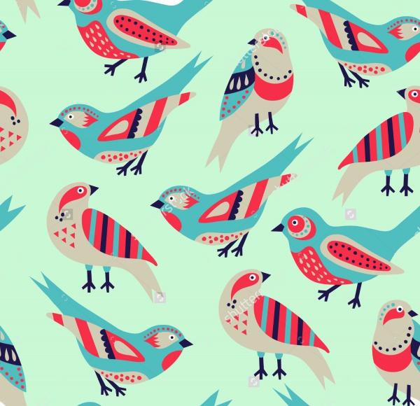 Colorful Bird Seamless Pattern