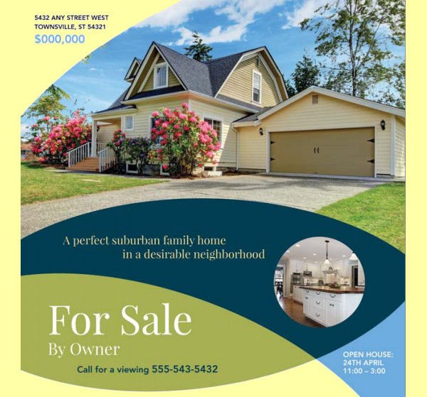 Contemporary Home Sale Flyer  Home For Sale Brochure