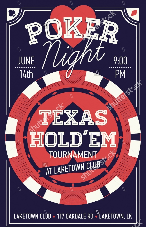 Cool Texas Poker Night Invitation