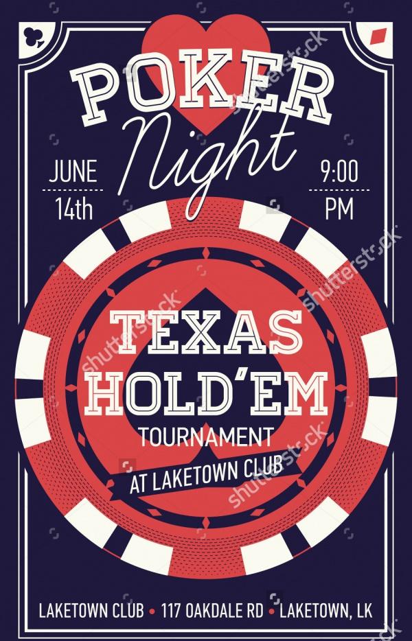 Cool Texas Poker Night Invitation