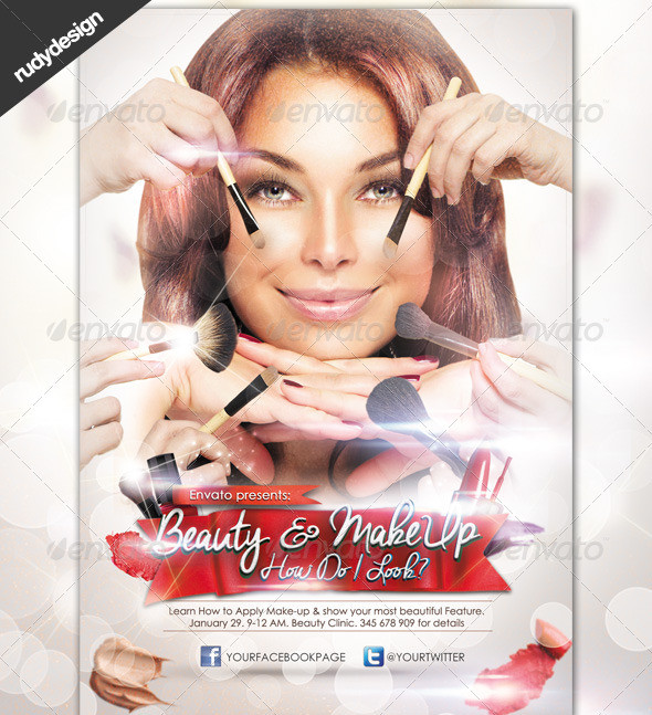 cosmetic products flyer template