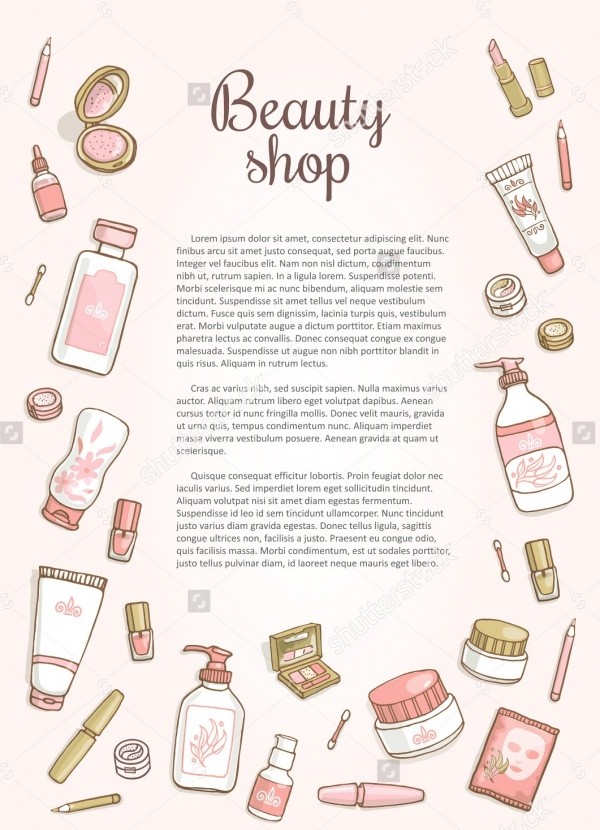 Cosmetic Shop Promo Flyer Design