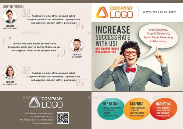 Creative Agency Bi-Fold Brochure