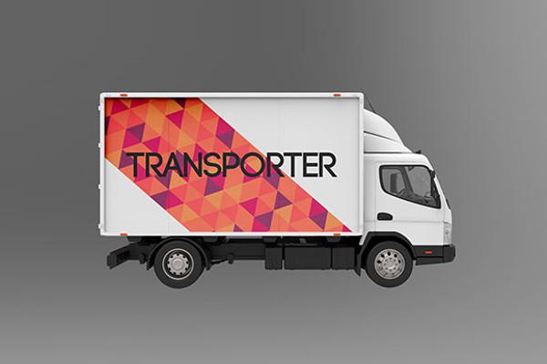 Creative Truck PSD Mock-up