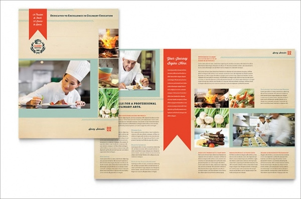 Catering Brochure Template PSD Vector EPS JPG Download - High school brochure template