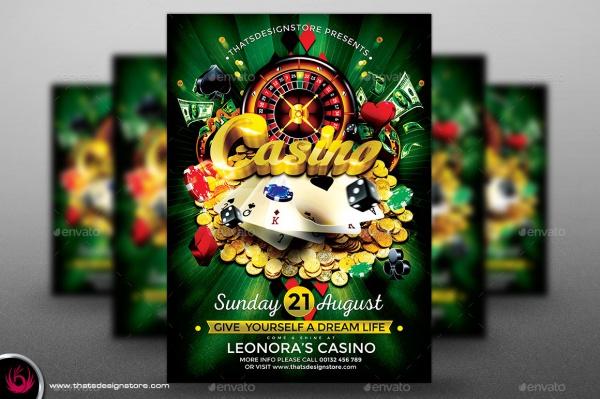 Customizable Casino PSD Flyer
