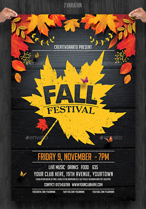 Festival Flyer Template  Psd Vector Eps Jpg Download