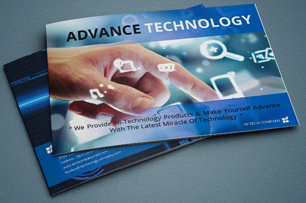 Customizable InDesign Technology Brochure