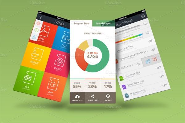 Customizable Mobile App Mock Ups