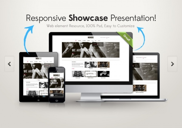 Customizable Responsive Screen Mock-up