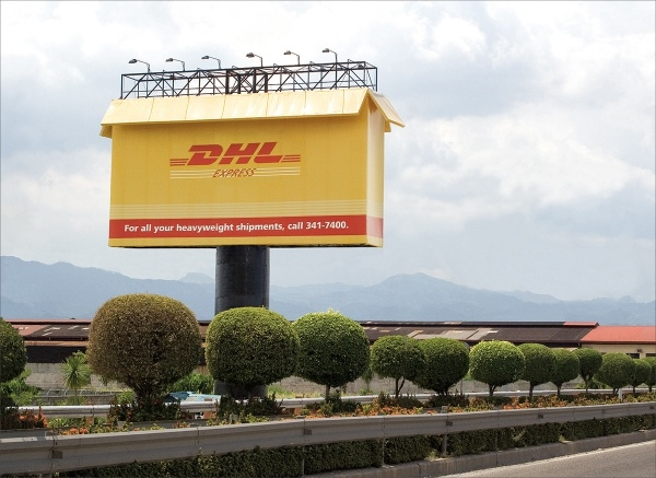 DHL -Giant Box Billboard Advertising