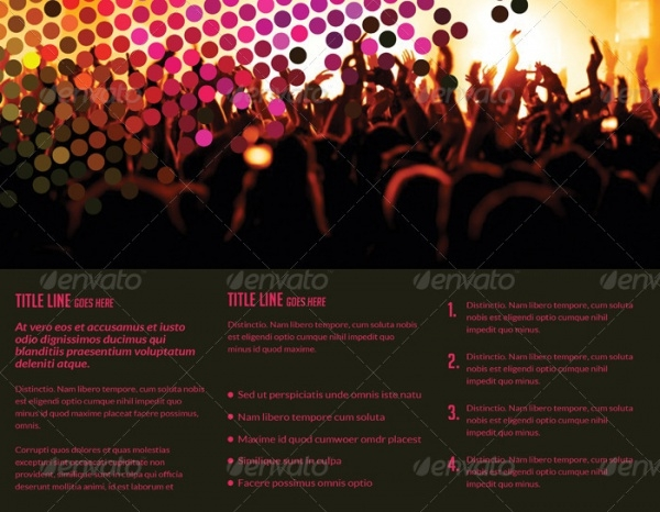 DJ Party Press Kit Tri-Fold Brochure