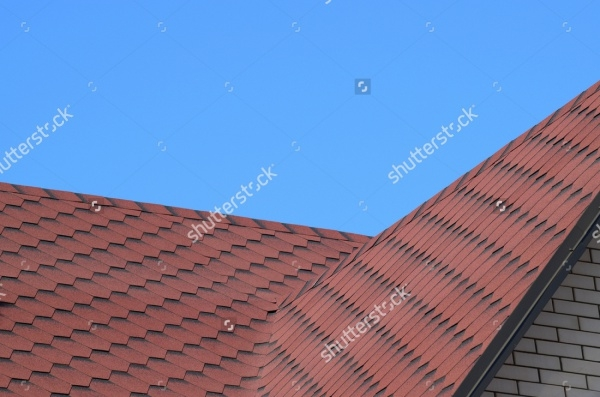 Decorative metal Slate tile on a roof