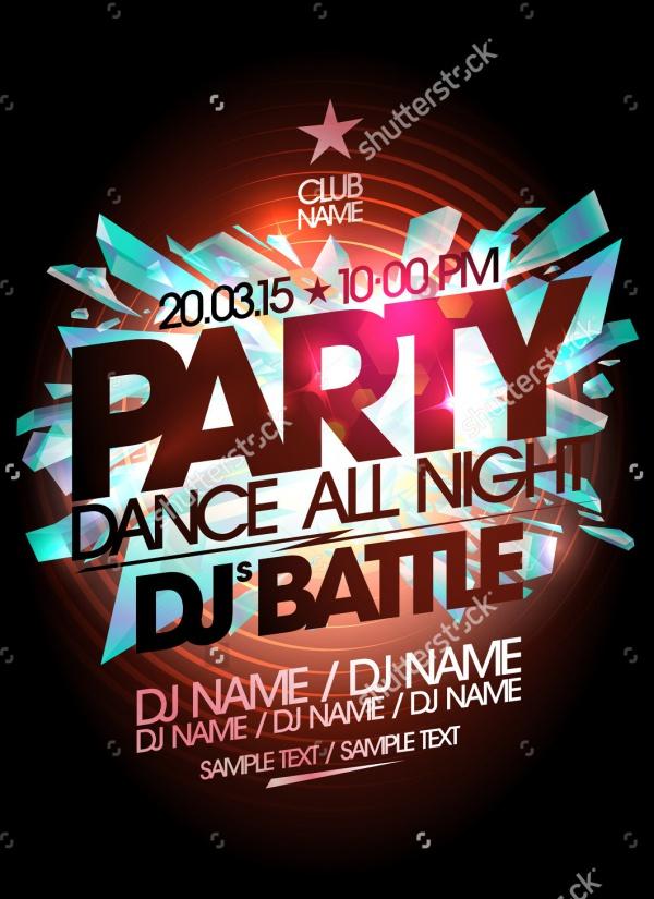 Dj Battle Dance Party Flyer