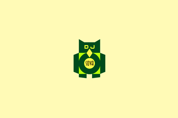 Dj techno Music Logo