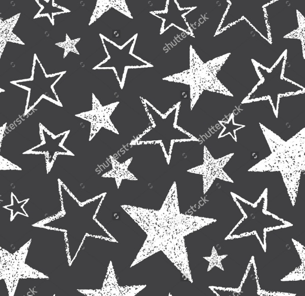 Doodle Style Rough Stars Texture