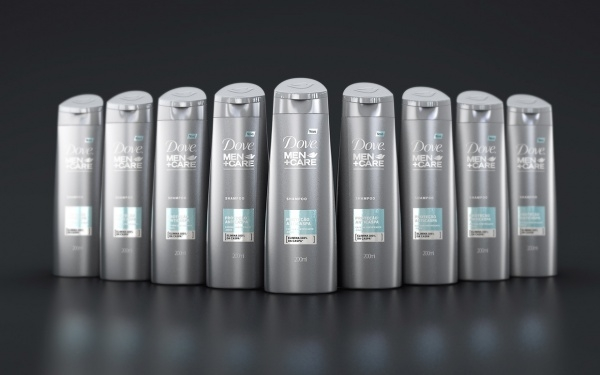 Dove Shampoo Men Care Mockup