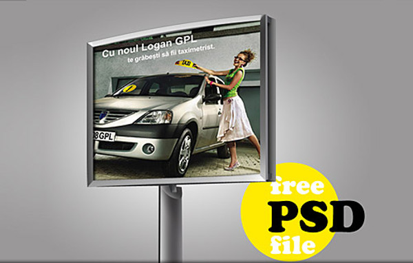 Download Advertising Billboard PSD