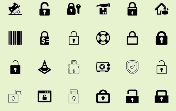 Download Flat Security Icons