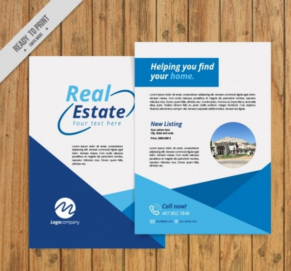 Editable Abstract Real Estate Flyer
