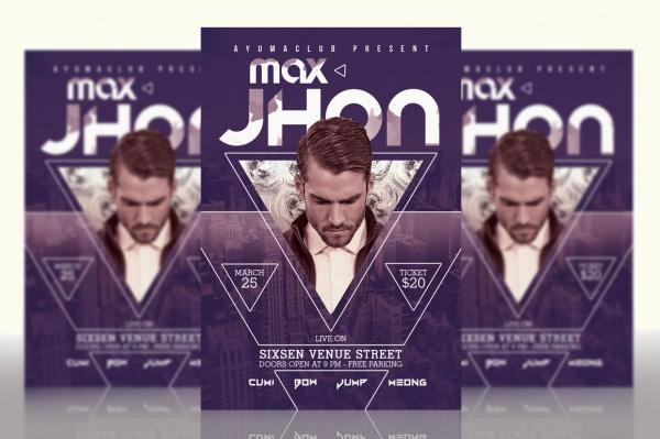 Editable DJ Concert Flyer