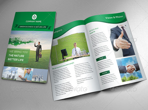 Editable Green Business Brochure