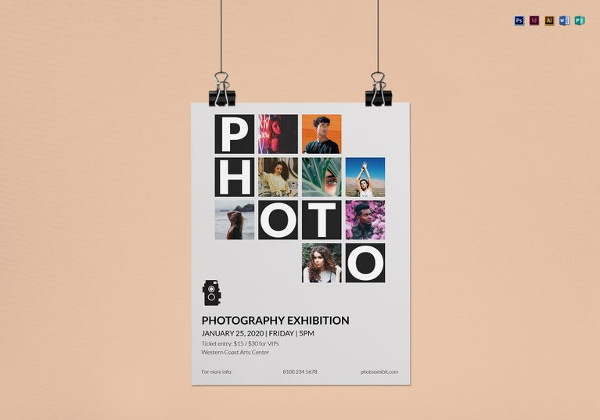 Editable Photography Exhibition Flyer Template