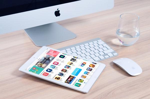 Electronic Gadgets Desk Mockup