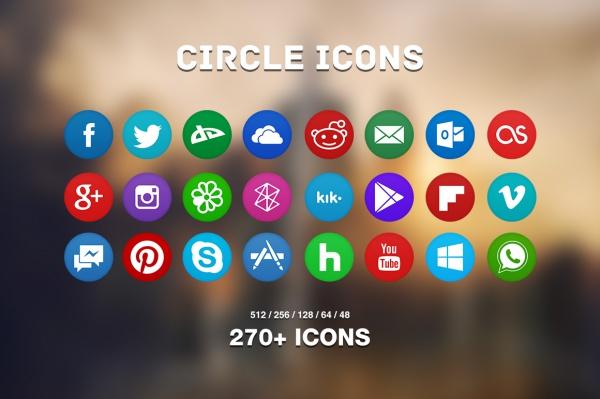 Elegant Circle Icons Pack