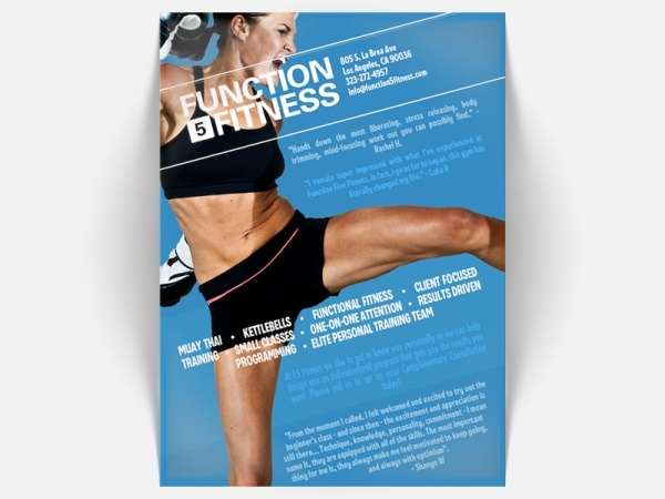 Elegant Fitness Brochure design