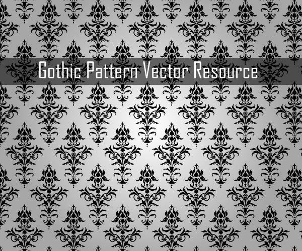 Elegant Gothic Pattern Vector