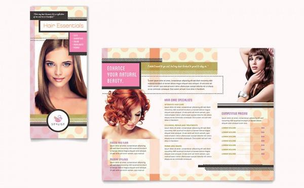 Elegant Hairstylist Brochure Template