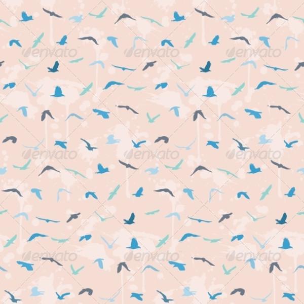 Elegant Seamless Birds Pattern