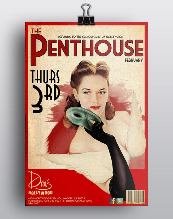 Elegant Vintage Penthouse flyers