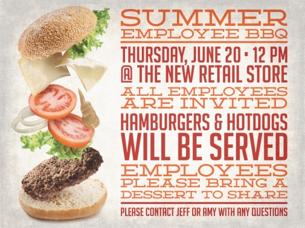 Employee BBQ Lunch Flyer