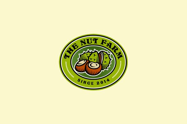 Engraving Style Old Farm Logo