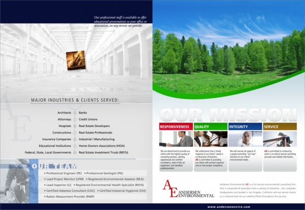 Environmental Green service brochure