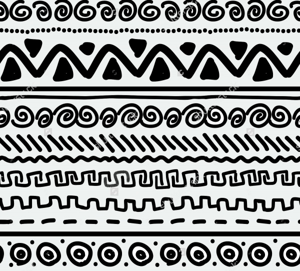 Ethnic Geometric Hand MAde Pattern