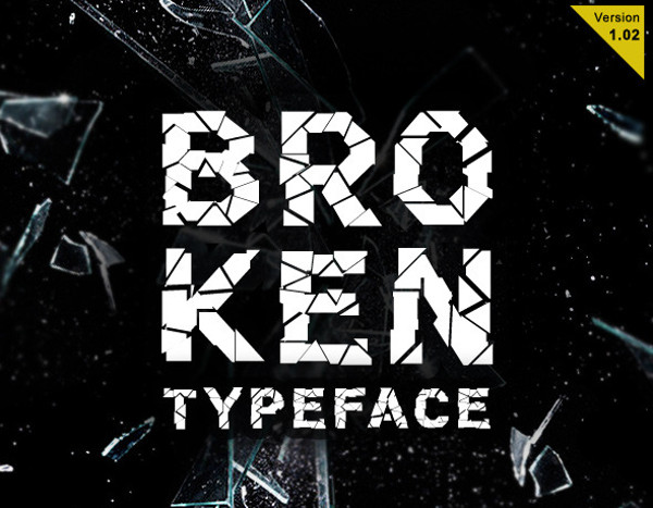 Exclusive Broken Typeface Font
